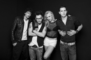 Jenny and The Mexicats foto BN